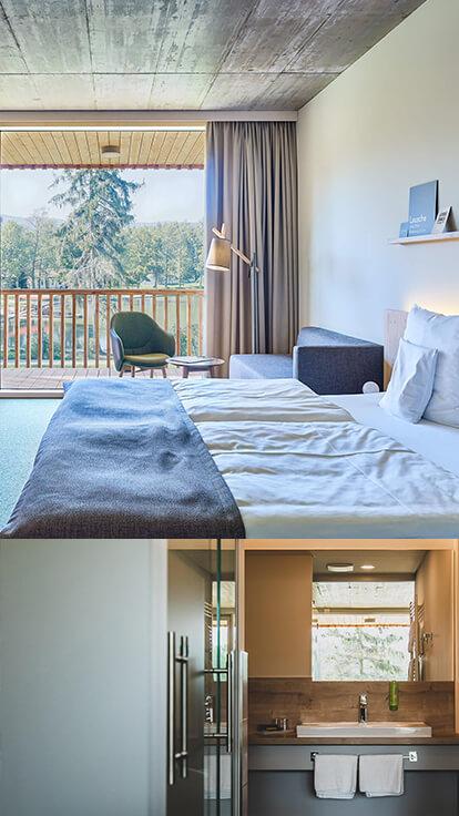 Trixi Ferienpark Zittauer Gebirge Familienurlaub Waldstrand-Hotel Doppelzimmer