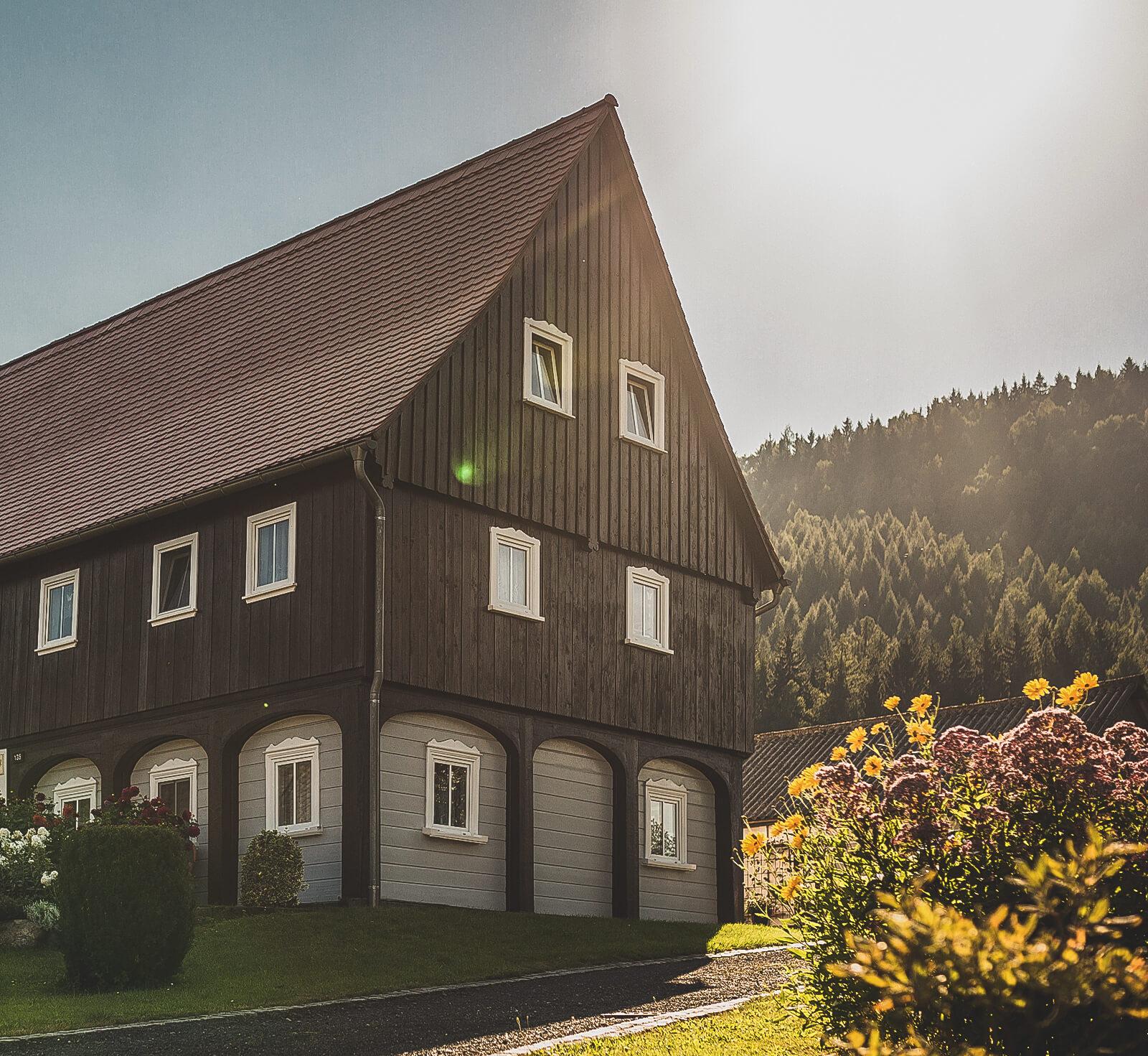 Trixi Ferienpark Zittauer Gebirge Erlebnisse Umgebindehaus Landschaft Oberlausitz